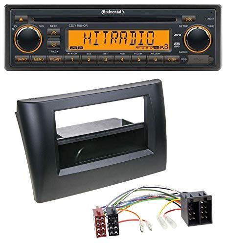 caraudio24 Continental CD7416U-OR USB AUX CD MP3 1DIN Autoradio für FIAT Stilo 192 01-08 Ablagefach