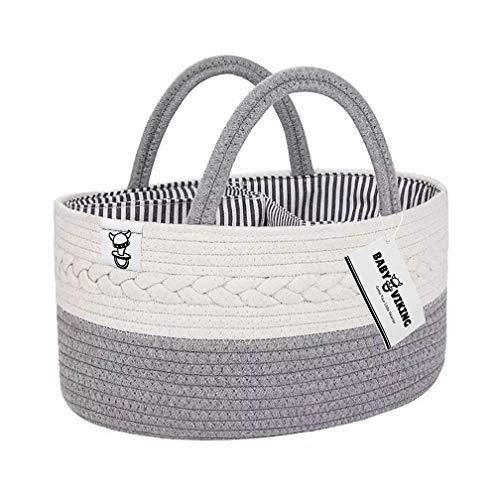 Baby Viking Diaper Caddy Organizer - Cotton Rope Storage Basket - Portable Changing Station - Backseat Car Organization for Kids - Boho Nursery Decor - Baby Shower Gift - Registry Essentials
