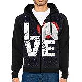 JUN7MING HAT Men's Sleeve Hoodie English Cocker Spaniel Dog Lovers Zip Up Sportswear Jackets Black