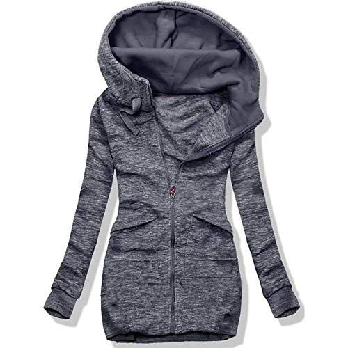 FIRSS Damen Winterjacke, Freizeit Outdoor Winterparka, Bequem Weich Windcoat, Casual Langarm Einfarbig Coat, Woman Sweatshirt Mantel, Atmungsaktiv Bequem Winter Jacke