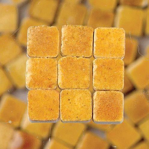 MosaicMicros - Piastrelle per Mosaico, in Ceramica Smaltata, 5 x 5 x 3 mm, 10 g, 100 Pezzi Miele.