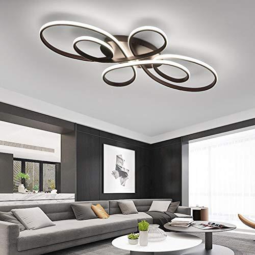 Wohnzimmerlampe LED Deckenleuchte Dimmbar 3000K-6500K Acryl-Schirm Fernbedienung Lichtfarbe/Helligkeit Einstellbar Deckenlampe Kreative Design Arbeitszimmer Esszimmer Schlafzimmer Flur Lampe