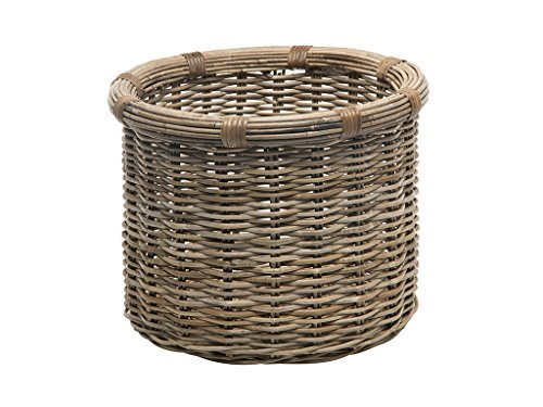 Kouboo 1060106 Rattan Kobo Round Log and Storage Basket, Gray
