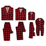 CARETOO Matching Family Pajamas Sets Long Sleeve Christmas Reindeer Plaid Pjs Striped Kids Holiday Sleepwear Homewear