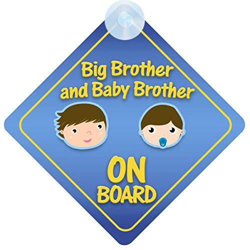 mybabyonboard UK Autoschild für Kinder, Motiv Big Brother und Baby Brother on Bord