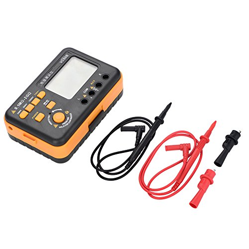 Widerstandsmesser, VC60B LCD Digitaler Isolationstester Isolationstester MegOhm-Meter-Tester Messen Sie 200MΩ/2GΩ MegOhmMeter