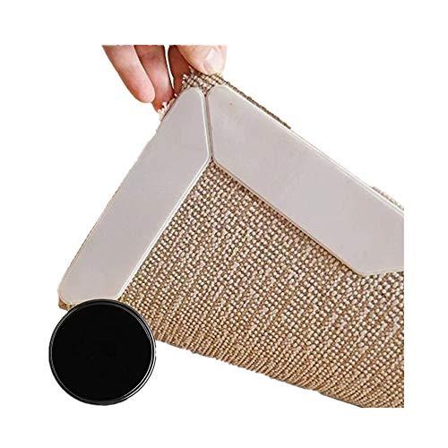 Tapis Gripper anti à boucler Coussin Tapis antidérapant lavable réutilisable solide Effet Collant Carpet Underlayment pour toutes les tailles Rugs 8 pcs avec Fixez-le Gel Pad
