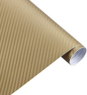 FairOnly 30cmx127cm 3D Carbon Fiber Vinyl Car Twill Wrap Sheet Roll Film Car Stickers Decals for Motorcycle Car Automobile...