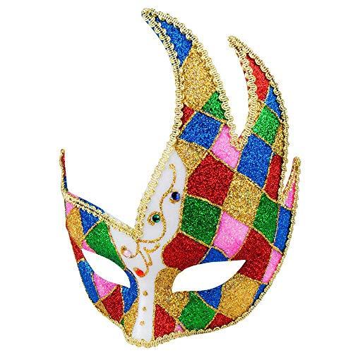 Boland 10116587 Augenmaske Venice Jester, One Size