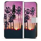 DeinDesign Étui Compatible avec Nokia 6.1 Étui Folio Étui magnétique Palmier Coucher du Soleil...