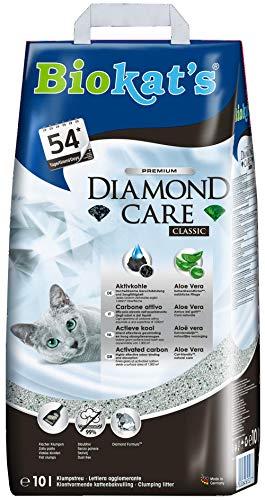 Biokat\'s Diamond Care Classic ohne Duft - Feine Katzenstreu mit Aktivkohle und Aloe Vera - 1 Sack (1 x 10 L)
