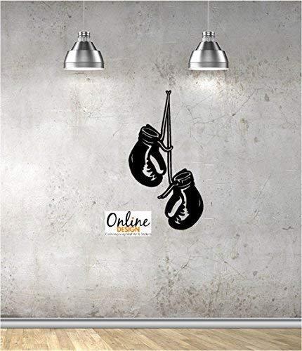 Online Design Wand-Tattoo / Wand-Aufkleber, Motiv Boxhandschuhe türkis