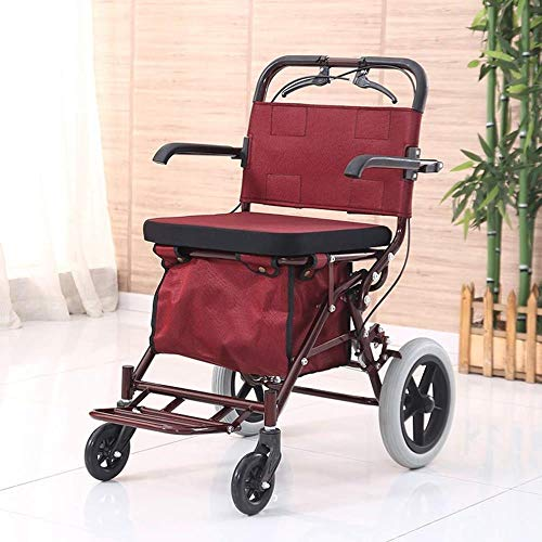Andadores Movilidad 4 ruedas andador con asiento Junior Walker, plegab