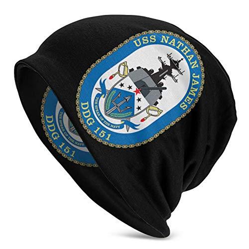 USS Nathan James Unisex Adult Adult Men's Knit Hat Winter Outdoor Caps Warm Caps Black
