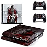 FENGLING Juego Bloodborne Ps4 Pegatinas Play Station 4 Skin PS 4 Pegatina calcomanías Cubierta para Playstation 4 Ps4 Consola y Controlador Piel Vinilo