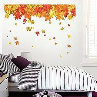 Decals Design 'Autumn Leaves Falling' Wall Sticker (PVC Vinyl, 60 cm x 90 cm), Multicolour
