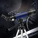 Telescopes for Adults, Astronomy Beginners Gifts, Professional Astronomy 70mm Aperture Telescope with Tripod, Astronomical Refracting Telescope, Travel Telescope with 2 Magnification Eyepieces