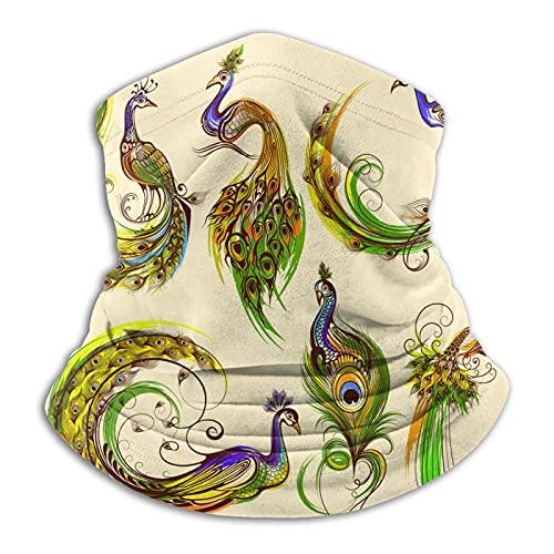 Más cálido cuello Polaina hermoso pavo real colorido máscara para hombres mujeres bandanas para pesca caza deportes