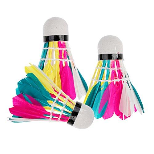 Sharplace 3 Piezas de Volantes Multicolores Duraderos Birdies Pelota de Bádminton para Actividades Deportivas Al Aire Libre en Interiores