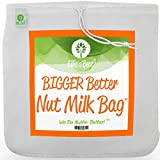 Pro Quality Nut Milk Bag - XL12'X12' Bags - Commercial Grade Reusable All Purpose Food Strainer -...