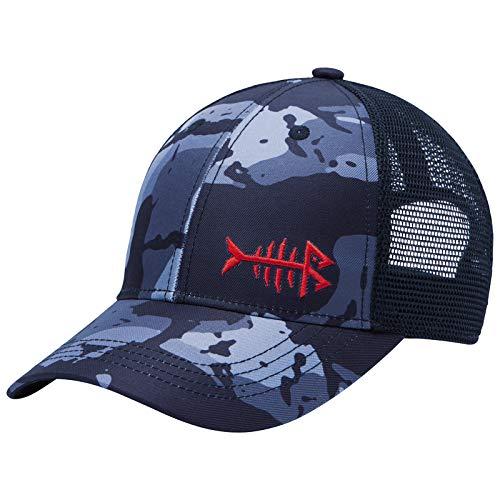 BASSDASH Altimate Fishing Hat Mesh Back for Men Women Adjustable Baseball Trucker Cap Black Camo