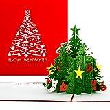 Weihnachtskarte'Tannenbaum | Classic' Frohe Weihnachten Rot; Weihnachtskarte, Tannenbaum, Pop Up Karte zu Weihnachten, Geschenkkarte, 3D Karten, Weihnachten, Grußkarte, Adventskarte