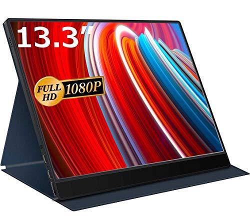 cocopar 13.3インチ/モバイルモニター/モバイルディスプレイ/薄型/IPSパネル/USB Type-C/標準HDMI/保護カバ...