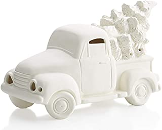 Antique Truck with Holiday Tree Votive Candle Holder - Paint Your Own Ceramic Keepsake