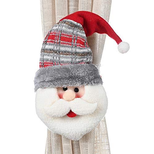 2 * Kerst rubberen band gordijn gesp Kerstdecoratie benodigdheden Raamdecoratie Kerst cartoon benodigdheden