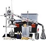 Nuevo Conjunto De Destilación De Aceite Esencial De Laboratorio De Destilador De Vidrio con Kits De Matraces De Tubo De Condensador