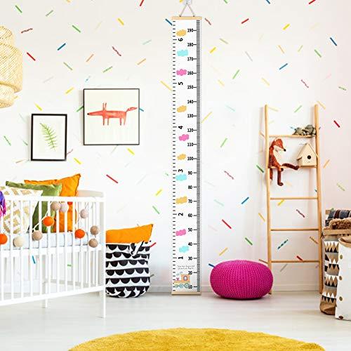 Kinder Messlatte,Kinder Messlatte Wachstum Wall Chart Höhe Diagramm Art zum Aufhängen Herrscher für Kinder Schlafzimmer Kinderzimmer Kinder-Schlafzimmer-Kinderzimmer-Wanddekorationen (D)