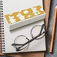 メガネケース レザー サングラスケース ムーミン リトルミイ 眼鏡ケース メガネサック めがね布付き メガネ入れ ペンケース テーシーケース 化粧ポーチ 擦り傷防止 ハード めがねケース マグネット式 多機能