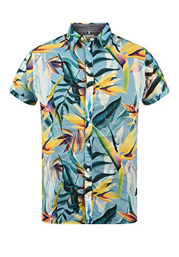 Blend Herren Kurzarmhemd Herrenhemd Hemd 20710893, Größe:XXL, Farbe:Forget-me-not (70149)