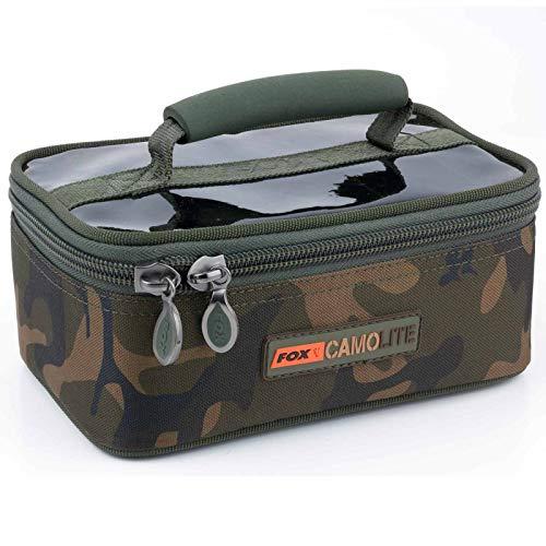 FOX Camolite Rigid Lead and Bits Bag 23x15x10cm - Tackletasche zum Karpfenangeln, Angeltasche für Vorfachschnur & Karpfenbleie