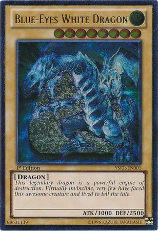 Yu-Gi-Oh! - Blue-Eyes White Dragon - YSKR-EN001 - Ultimate Rare - Unlimited Edition - Starter Deck: Kaiba Reloaded