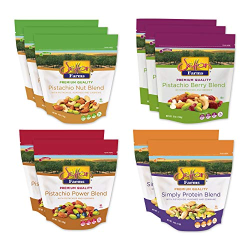 Setton Farms Premium Quality Blends Variety Pack, (Pack of 10), Resealable Bag, Healthy Trail Mix, Kosher, Vegan, Gluten Free
