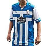 RC Deportivo Camiseta 1ª Equipación 2020/21, Unisex niños, Azul, 10-11 años