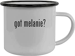 got melanie? - Stainless Steel 12oz Camping Mug, Black
