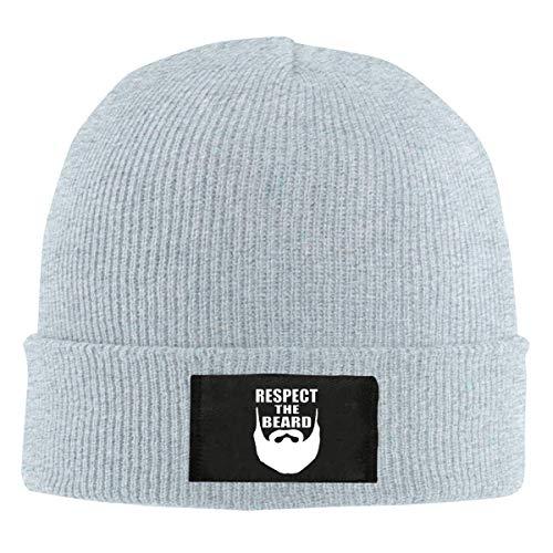 Voxpkrs Respect The Beard Top Level Beanie Men Women - Unisex Stylish Slouch Beanie Hats Black