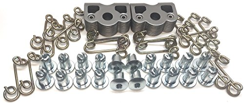 1/4 Turn Quick Release Steel Dzus Button with Springs and Tab Plates 20 Pack