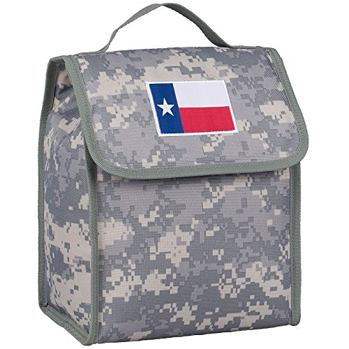 Wildkin Kids Insulated Lunch Bag For Boys & Girls, Perfect Size for Packing Hot or Cold Snacks for School & Travel, Lunch Bags Measures 10 x 8.5 x 5 Inches, BPA-free (Texas Digital Camo)