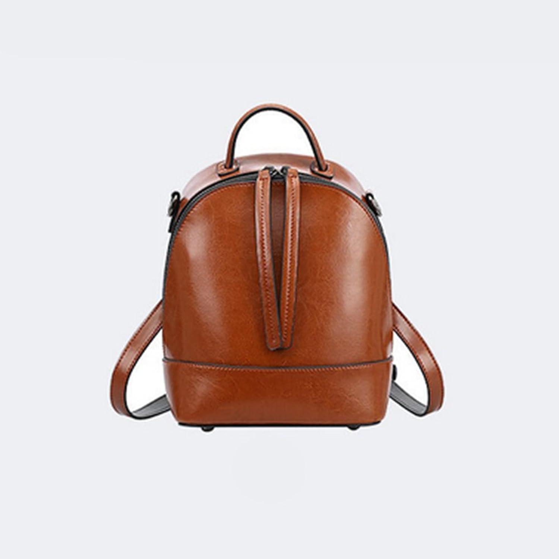 LS Schultertasche Einfache Atmosphäre Öl Wachs Leder Mode Reise Handtasche Handtasche Handtasche B07D5X7M8P 326104