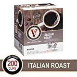 Italian Roast for K-Cup Keurig 2.0 Brewers, 200 Count, Victor Allen's Coffee Dark Roast Single Serve Coffee Pods