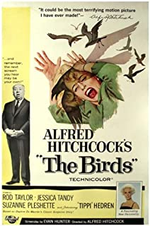 The Birds Movie Poster Alfred Hitchcock 12x18