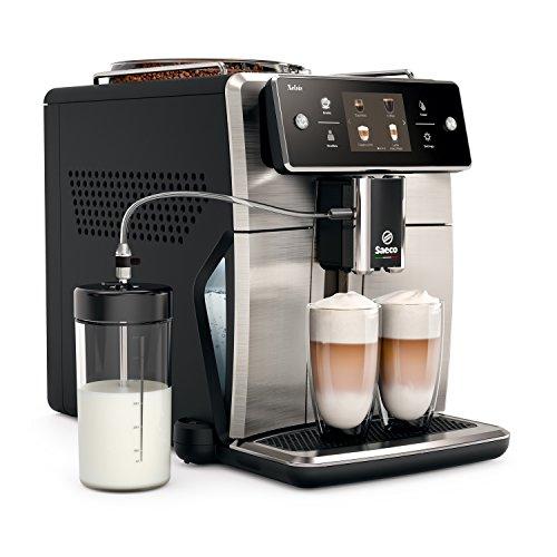 Saeco sm7683/00Xelsis–Cafetera automática, innovadora pantalla táctil, acero inoxidable/negro