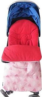 Allence Universal Baby Fußsack, Kleinkind Winddicht Warm Pram Kinderwagen Dickes Wattepad, Gemütliche Zehen Schürze Liner Buggy Rot Blau