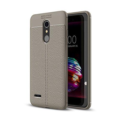 ZHENGYAQI-PHONE CASE Caja del teléfono for LG K10 Litchi Texture Soft TPU Funda Protectora Estuche Protector (Color : Grey)