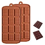 Sprießen 2 PCS Moldes para Bombones de Silicona, Chocolate Molde de Silicona de 12 cavidades, Molde para Hornear sin BPA Adecuado para la Producción de Chocolate, Pasteles, Gelatina