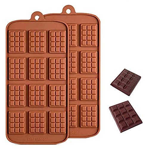 Sprießen 2PCS Moules en Silicone pour Chocolat, Moule Flexible pour Bonbons à 12 cavités, Moule à Pâtisserie sans BPA Adapté à la Production de Chocolat, Gâteau, Gelée, Mousse à Dôme, Biscuits