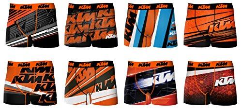 KTM Boxershorts, Herren, verschiedene Motive Gr. XL, Pack mit 8 Act4.